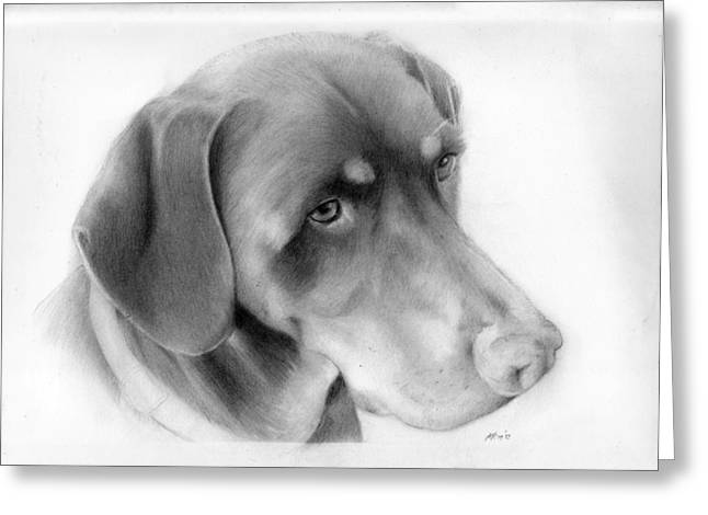 Doby Greeting Cards - Lola Greeting Card by Kendrick Roy