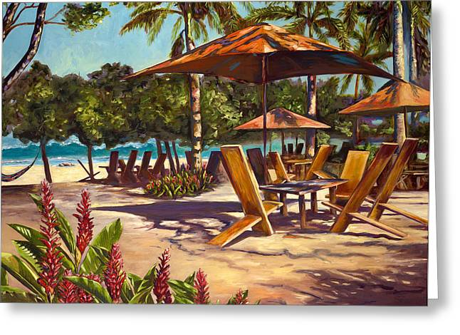 Tropical Beach Greeting Cards - Lolas in Costa Rica Greeting Card by Christie Michael