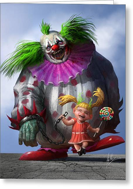 Creepy Digital Art Greeting Cards - Lollipop Greeting Card by Alex Ruiz
