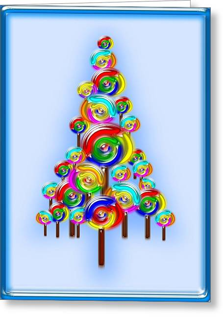 Recently Sold -  - Christmas Art Greeting Cards - Lollipop Tree Greeting Card by Anastasiya Malakhova