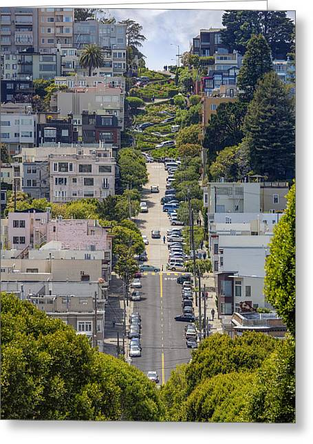 Modern Russian Art Greeting Cards - Lombard Street Greeting Card by Adam Romanowicz