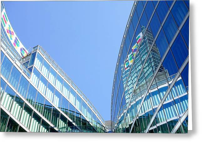 Roberto Greeting Cards - Lombardy Building Greeting Card by Valentino Visentini