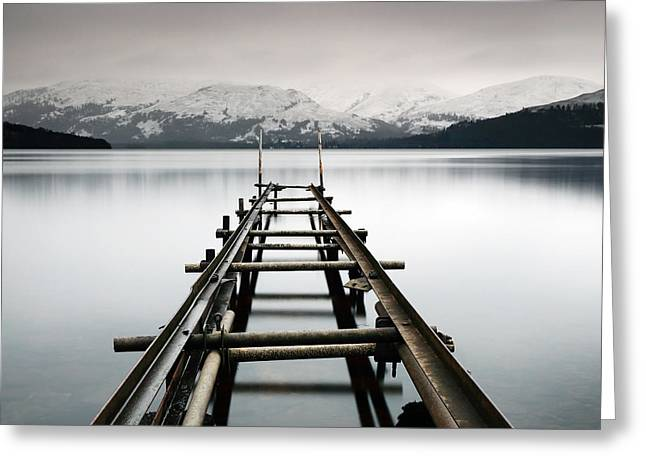 Scotland Greeting Cards - Lomond Jetty Greeting Card by Grant Glendinning