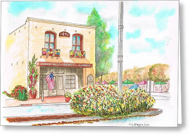 Paisajes Greeting Cards - Lompoc Chamber of Comerce - Lompoc - California Greeting Card by Carlos G Groppa
