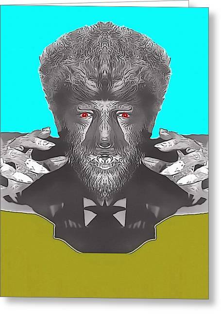 Hairy Wolf Greeting Cards - Lon Chaney Jr alias in The Wolf Man Greeting Card by Art Cinema Gallery