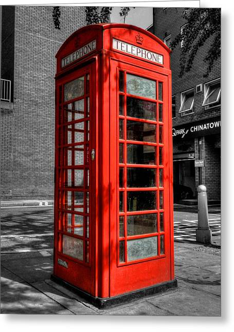 Red Greeting Cards - London 040 Greeting Card by Lance Vaughn