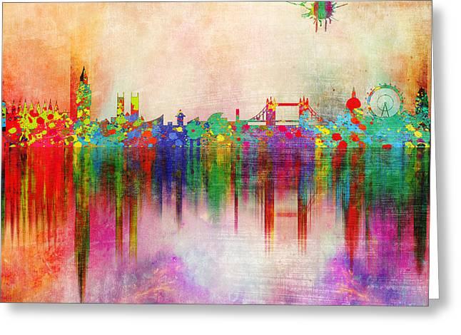 London 5 Greeting Card by Mark Ashkenazi