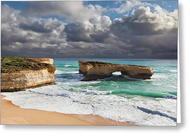 London Arch At The Great Ocean Road Greeting Card by Martin Zwick