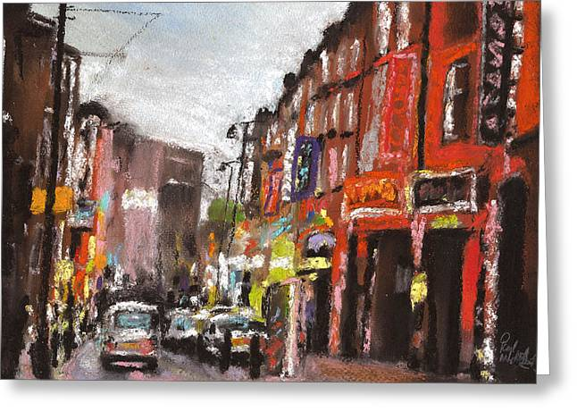 Traffic Pastels Greeting Cards - London Brick Lane 1 Greeting Card by Paul Mitchell