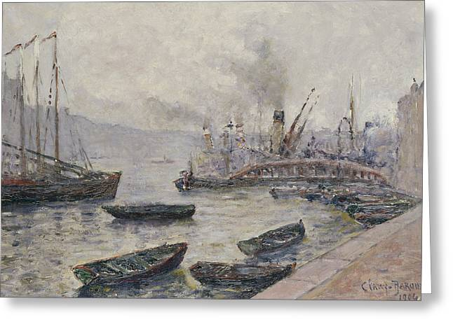 Yachting Greeting Cards - London Bridge Greeting Card by Adolphe Clary Baroux