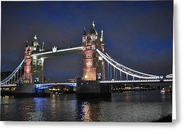 Icons Pyrography Greeting Cards - London Tower Bridge Greeting Card by Gary Smith