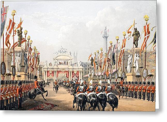 Royalty Greeting Cards - London Bridge, Kept By The Honourable Greeting Card by English School