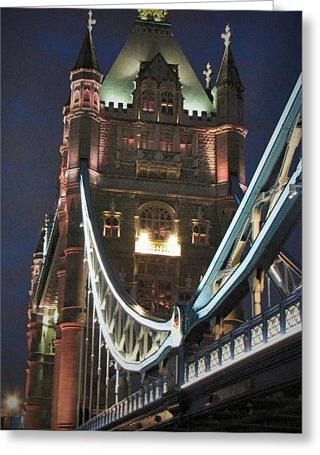 London Pyrography Greeting Cards - London Bridge Tower Greeting Card by Gary Smith