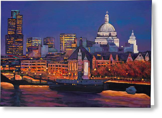 Expressionistic Greeting Cards - London Calling. Autumn Greeting Card by Johnathan Harris