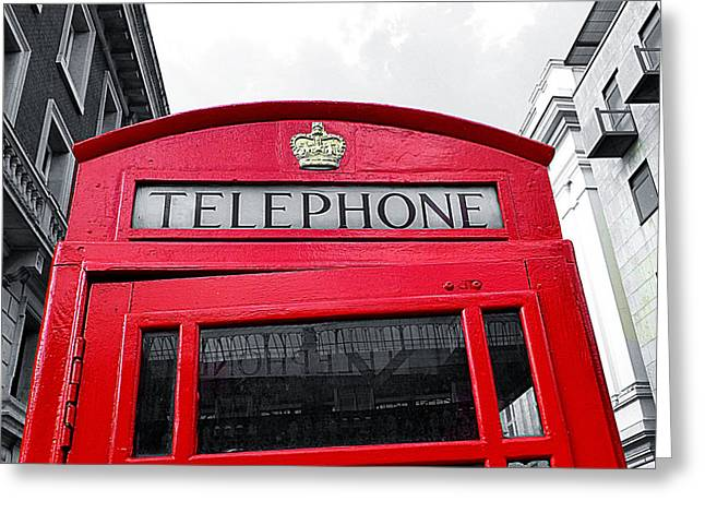 London Calling Greeting Card by Connie Handscomb