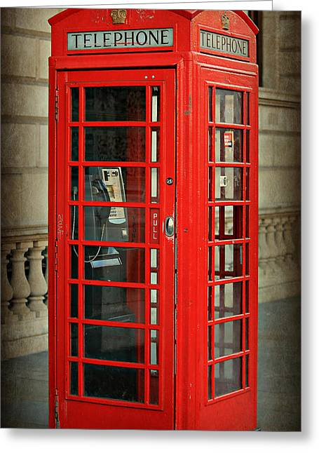 Telephone Booth Greeting Cards - London Calling Greeting Card by Stephen Stookey