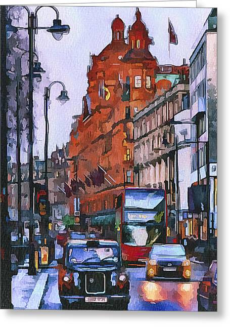 Old Town Digital Art Greeting Cards - London City 4 Greeting Card by Yury Malkov