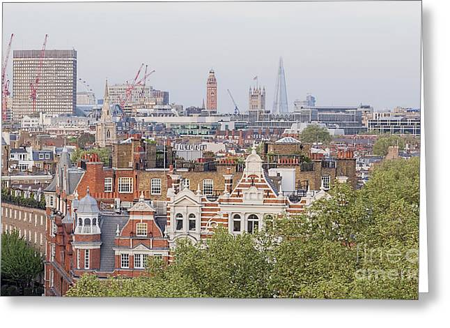 Unusual London City Skyline Greeting Card by Philip Pound