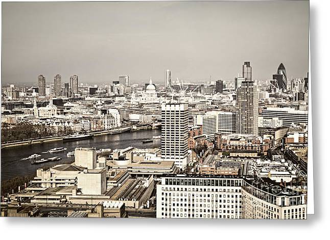 Historic Buildings Greeting Cards - London cityscape Greeting Card by Elena Elisseeva