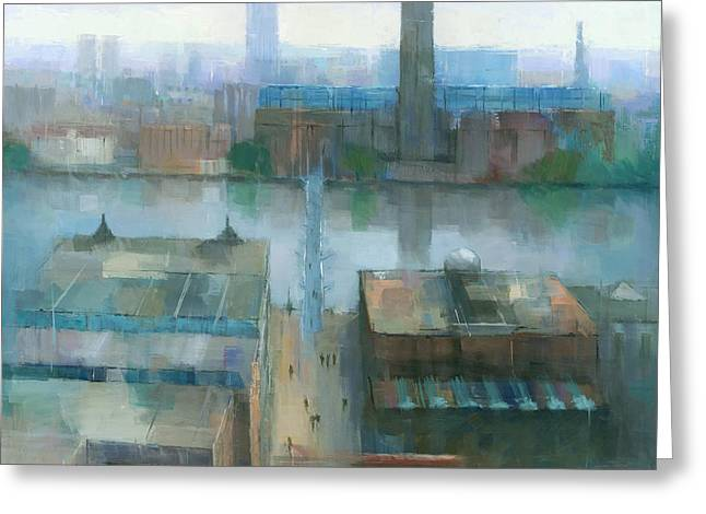 City Buildings Greeting Cards - London Cityscape Greeting Card by Steve Mitchell