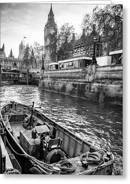 Stephen Barry Photographs Greeting Cards - London Dock Greeting Card by Glenn DiPaola