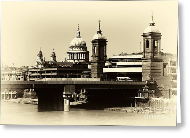 Vinter Greeting Cards - London Domes Greeting Card by John Rizzuto