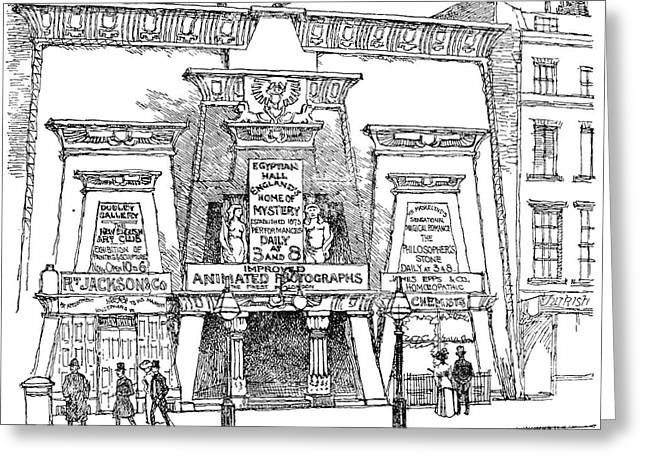 London Egyptian Hall Greeting Card by Granger