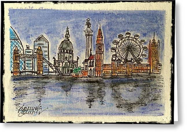 London Pastels Greeting Cards - London Greeting Card by Emanuela Boursier