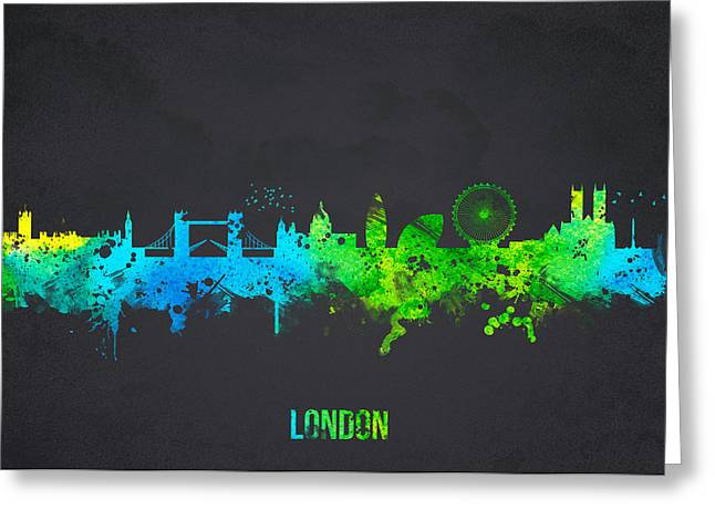 Historic Building Mixed Media Greeting Cards - London England Greeting Card by Aged Pixel