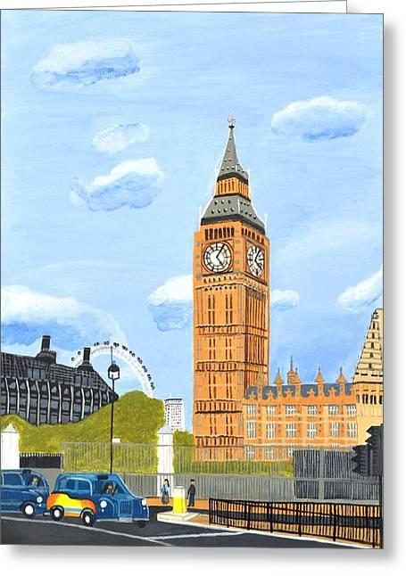 London England Big Ben  Greeting Card by Magdalena Frohnsdorff