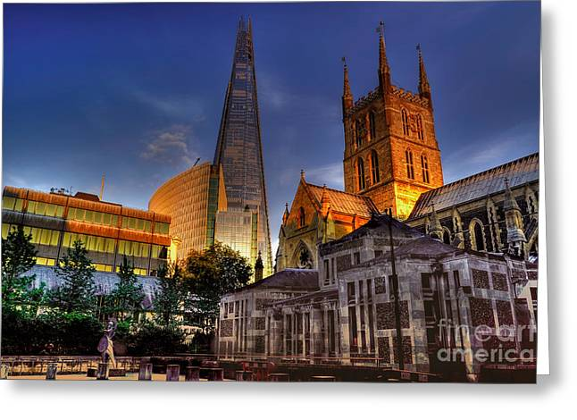 Londoners Greeting Cards - London England Greeting Card by Bill Cobb