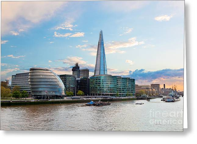 Place Of Business Greeting Cards - London England the UK The Shard Greeting Card by Michal Bednarek