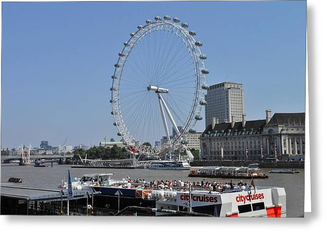 London Eye River Cruise Greeting Cards - London Eye 2 Greeting Card by Kay Gilley