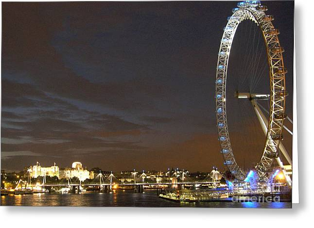 Londoneye Greeting Cards - London Eye Greeting Card by Andrea Anderegg