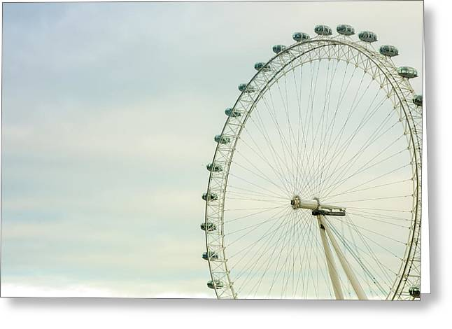 Amusements Greeting Cards - London Eye Closeup Greeting Card by Pati Photography