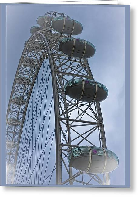 David Cook Designer Greeting Cards - London Eye Greeting Card by Maj Seda