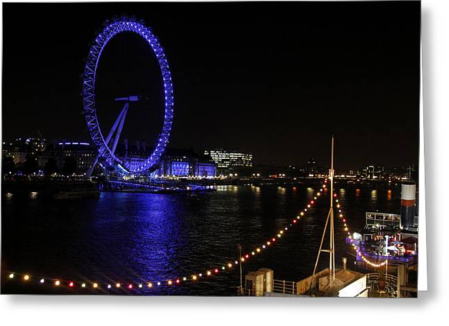 Wheel Pyrography Greeting Cards - London Eye Greeting Card by Rafael Pacheco