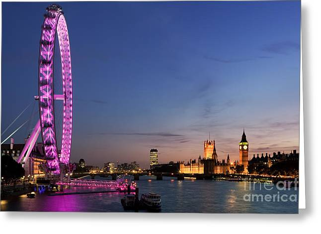 Illuminate Greeting Cards - London Eye Greeting Card by Rod McLean