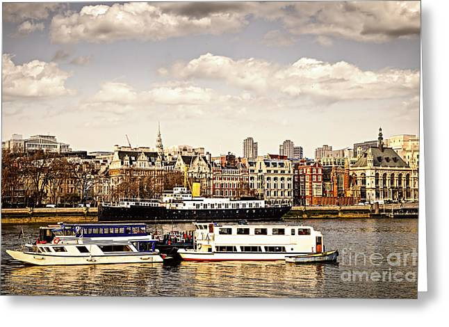 London from Thames river Greeting Card by Elena Elisseeva