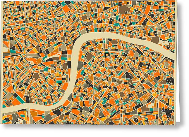 London Greeting Card by Jazzberry Blue