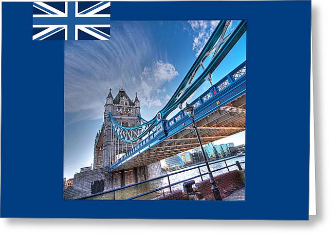 Famous Bridge Greeting Cards - London Landmark - Tower Bridge Greeting Card by Gill Billington