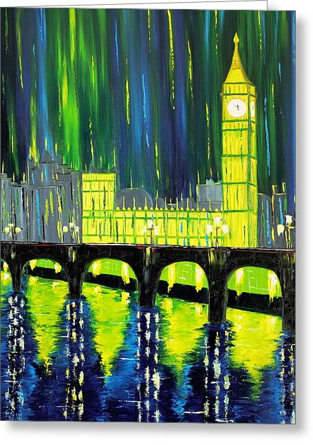 Limelight Greeting Cards - London Limelight Greeting Card by Galina Zimmatore