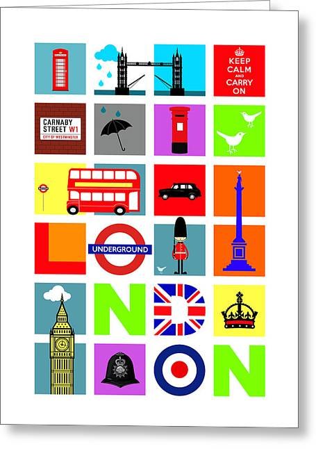 Underground Greeting Cards - London Greeting Card by Mark Rogan