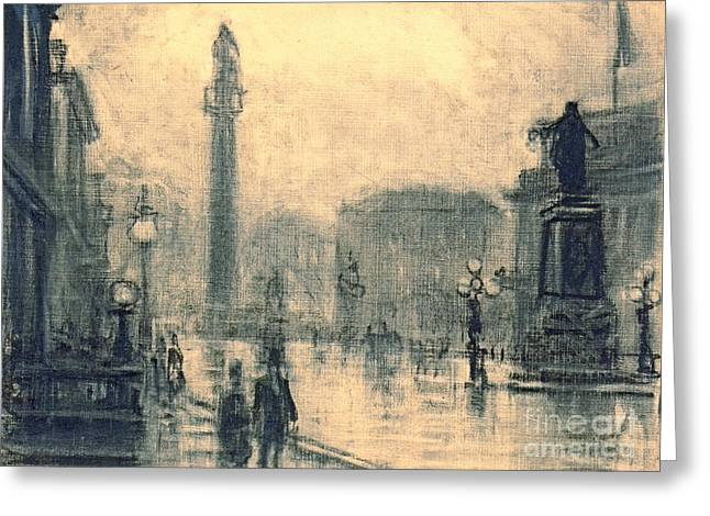 London Monument 1905 Greeting Card by Padre Art
