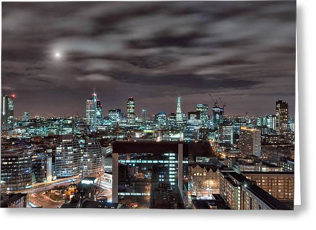 Giclée Fine Art Greeting Cards - London Nights 2 Greeting Card by Jason Green