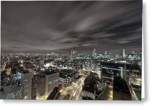Giclée Fine Art Greeting Cards - London Nights Greeting Card by Jason Green