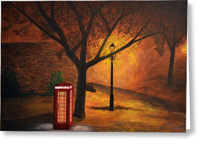 Kinkade Greeting Cards - London Painting Greeting Card by Ken Figurski