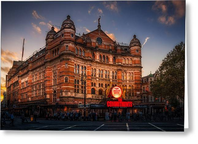 Theater Greeting Cards - London Palace Theatre Greeting Card by Dobromir Dobrinov
