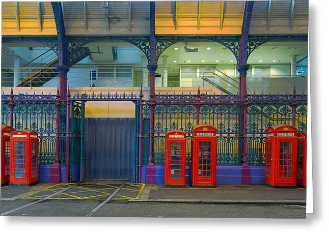 Cubicle Greeting Cards - London Phone booth Greeting Card by Rob Van Esch
