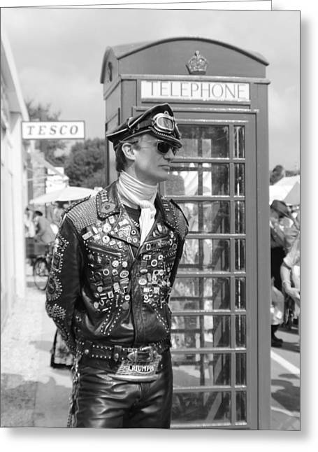 Wild Racers Greeting Cards - London Rocker Greeting Card by Robert Phelan